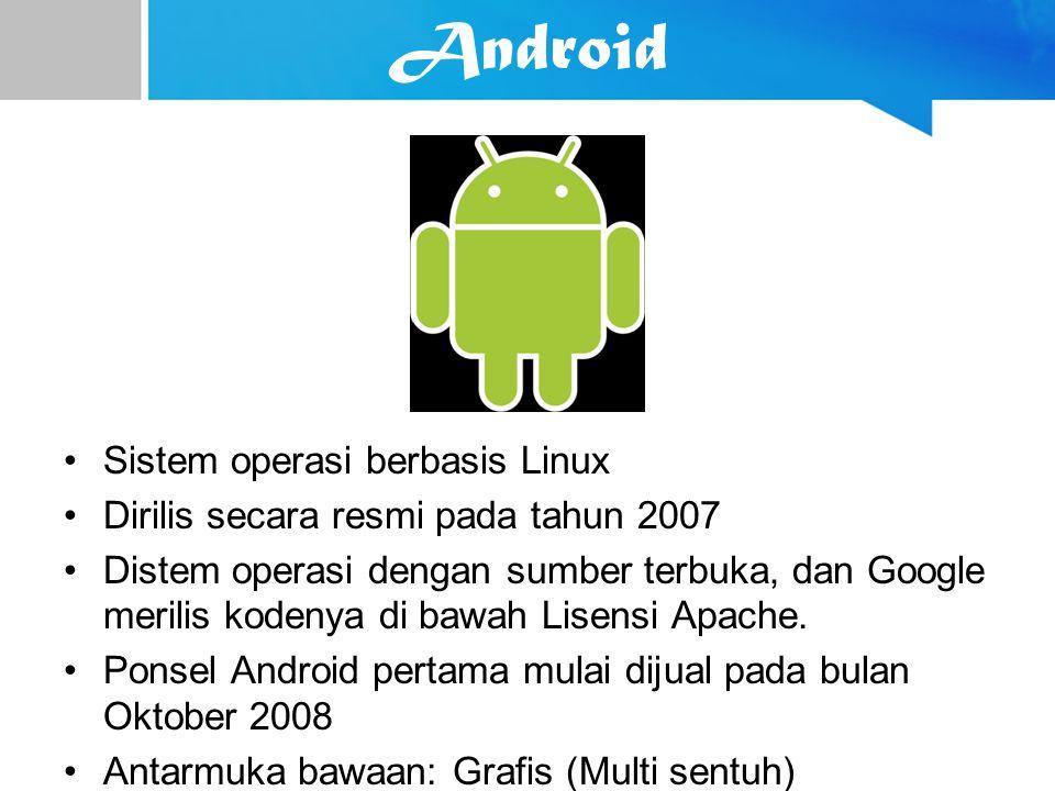 Android Sistem operasi berbasis Linux