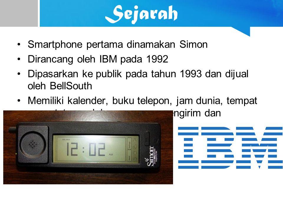 Sejarah Smartphone pertama dinamakan Simon