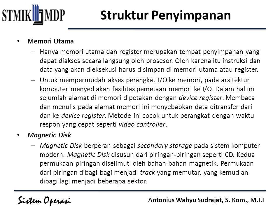 Struktur Penyimpanan Memori Utama