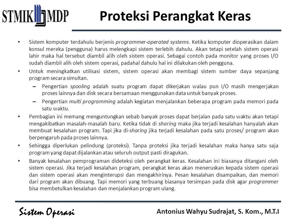 Proteksi Perangkat Keras