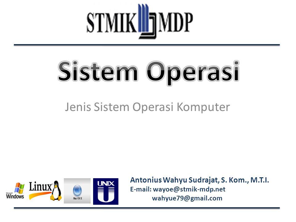 Jenis Sistem Operasi Komputer