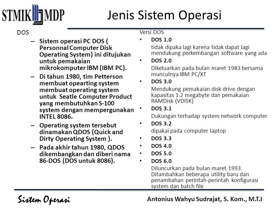 Jenis Sistem Operasi DOS