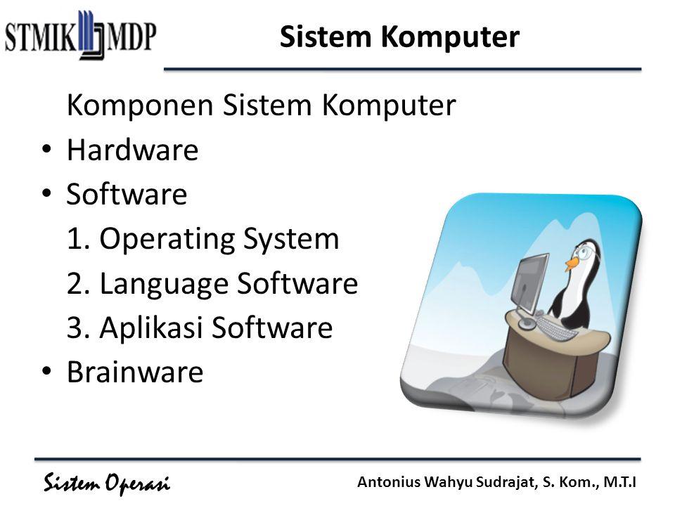 Sistem Komputer Hardware Software 1. Operating System