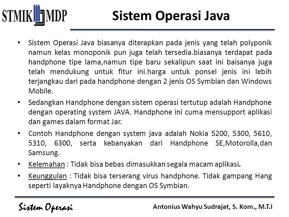Sistem Operasi Java