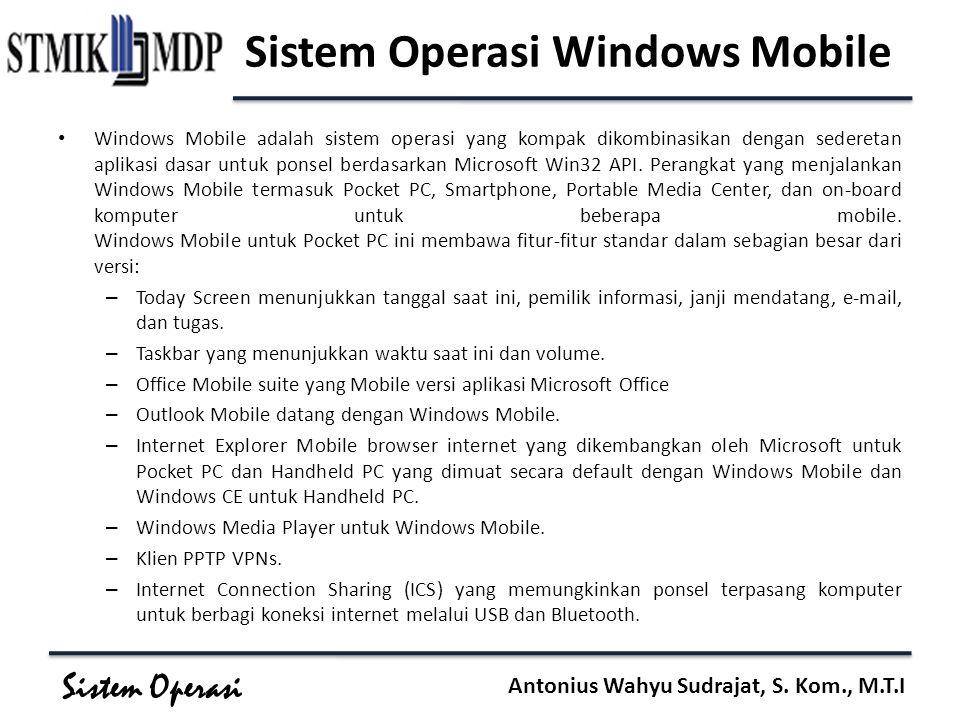 Sistem Operasi Windows Mobile