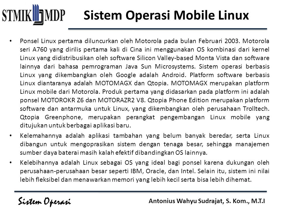 Sistem Operasi Mobile Linux