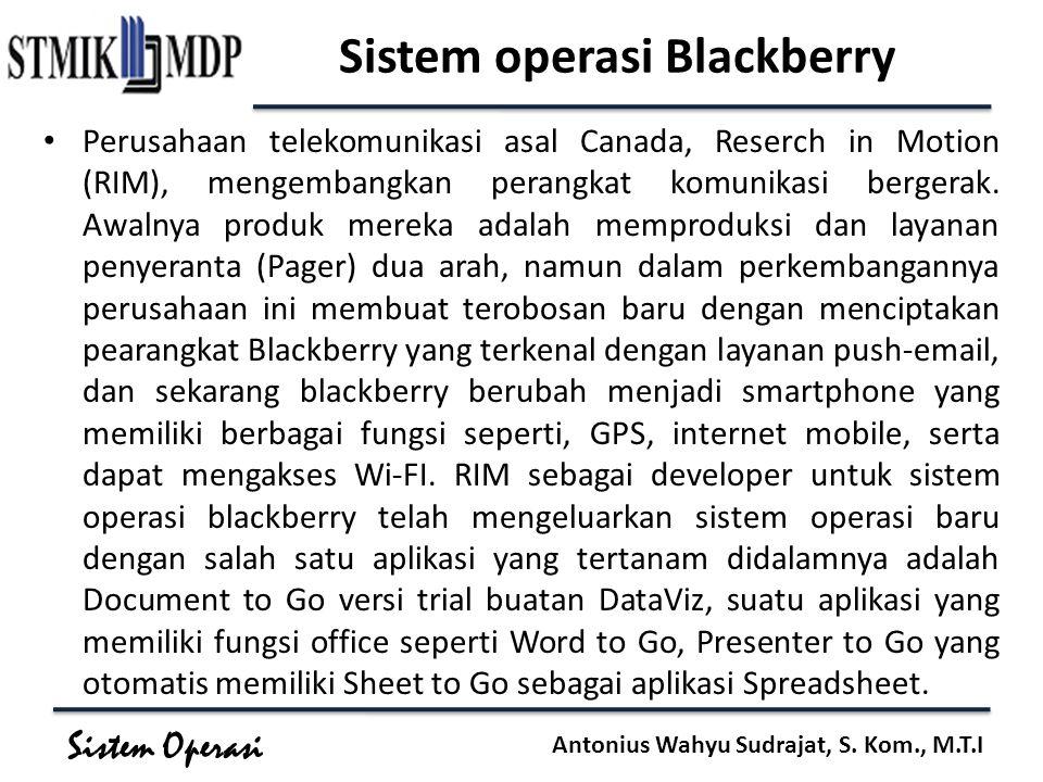 Sistem operasi Blackberry