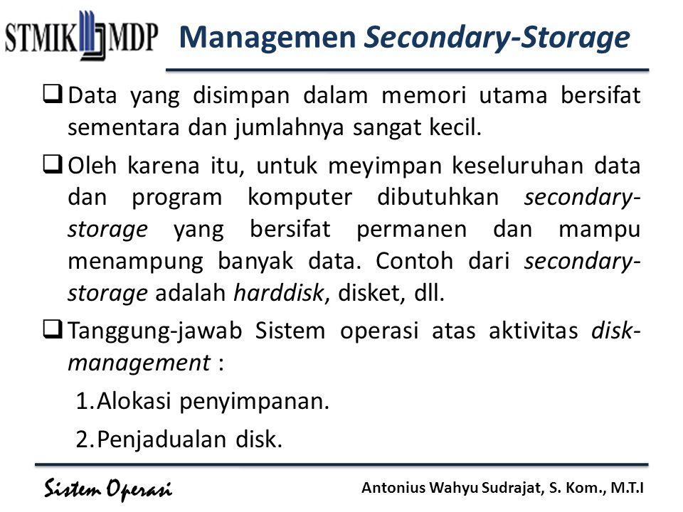 Managemen Secondary-Storage