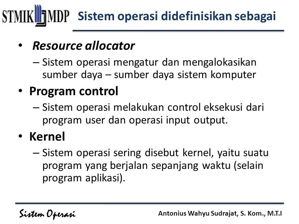Sistem operasi didefinisikan sebagai
