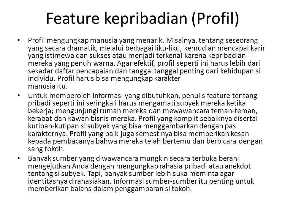 Feature kepribadian (Profil)