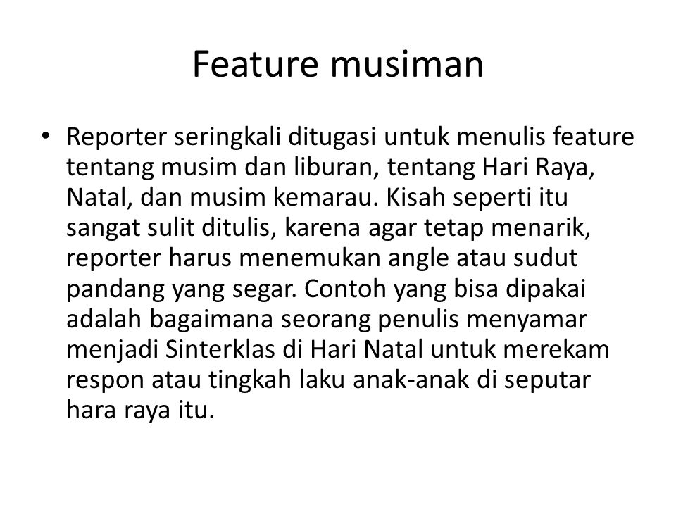 Feature musiman