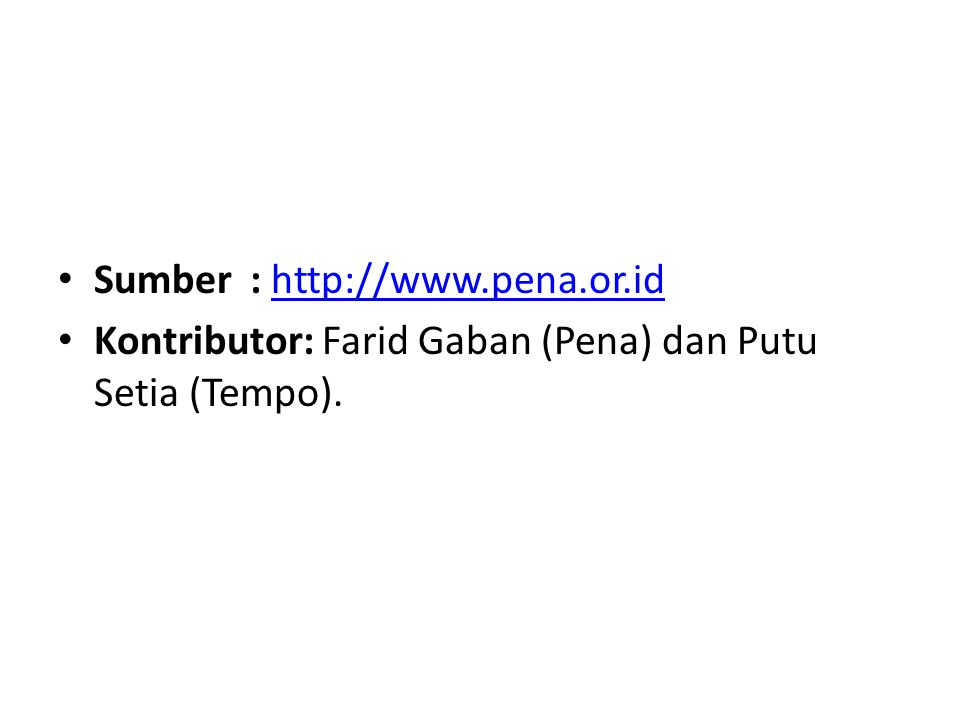 Sumber : http://www.pena.or.id