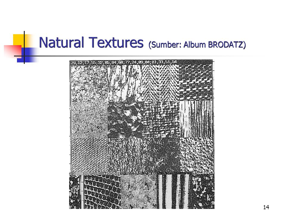 Natural Textures (Sumber: Album BRODATZ)