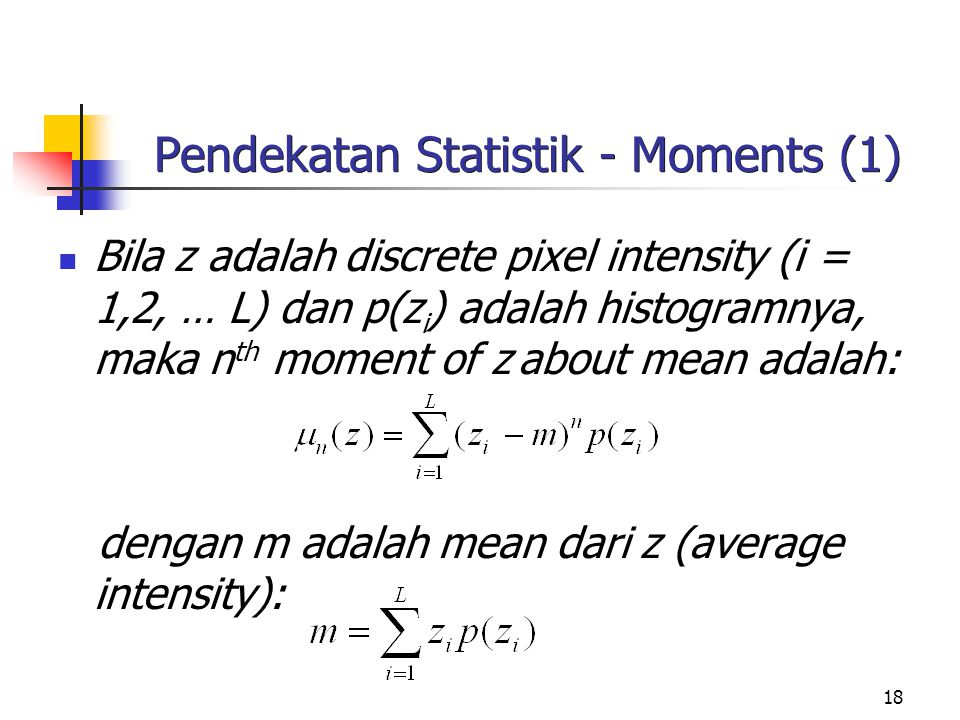 Pendekatan Statistik - Moments (1)