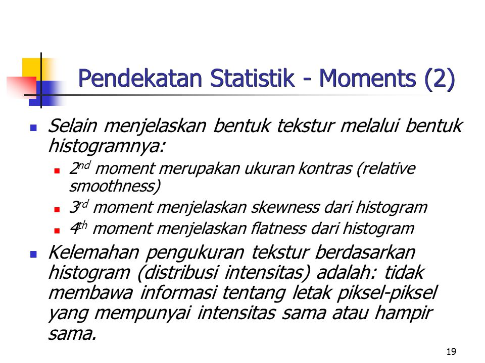 Pendekatan Statistik - Moments (2)