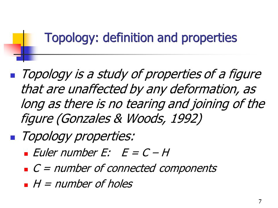 Topology: definition and properties