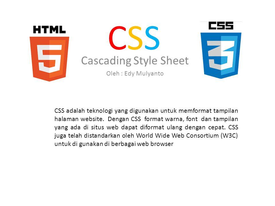Cascading Style Sheet Oleh : Edy Mulyanto