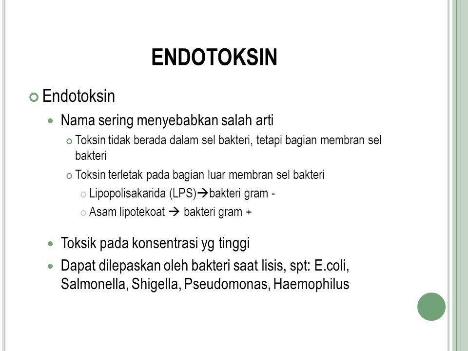 ENDOTOKSIN Endotoksin Nama sering menyebabkan salah arti