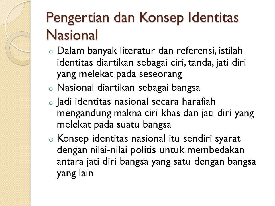 Pengertian dan Konsep Identitas Nasional