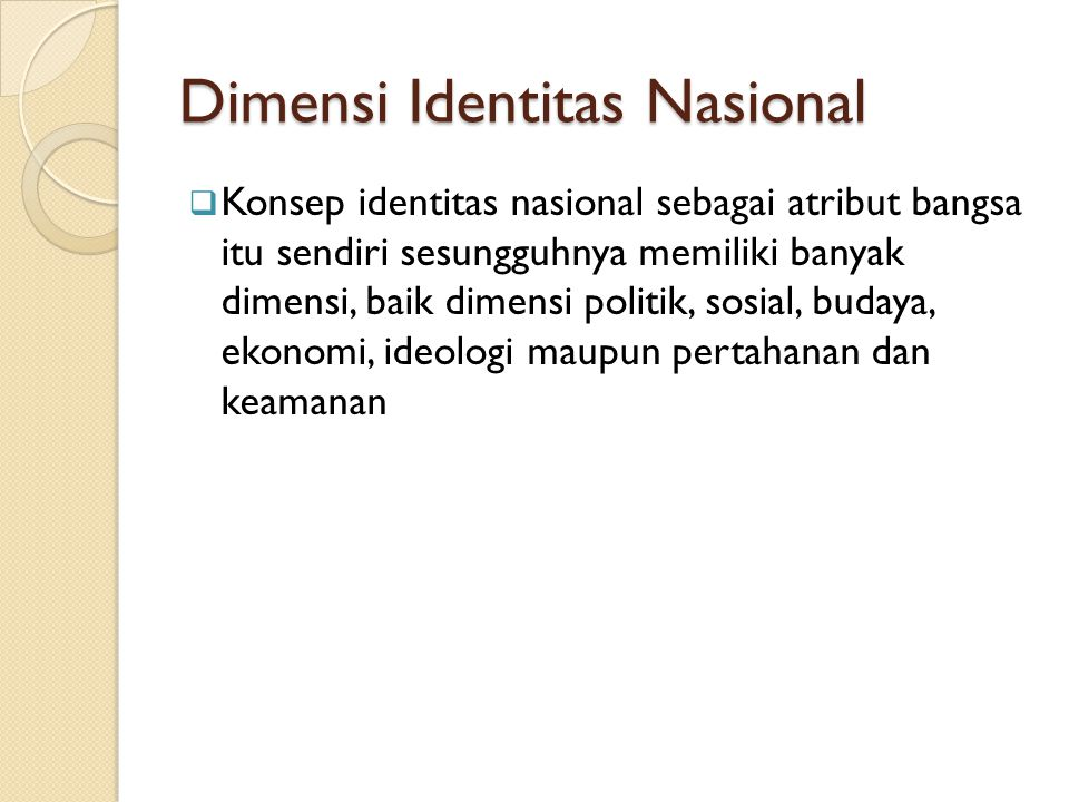 Dimensi Identitas Nasional
