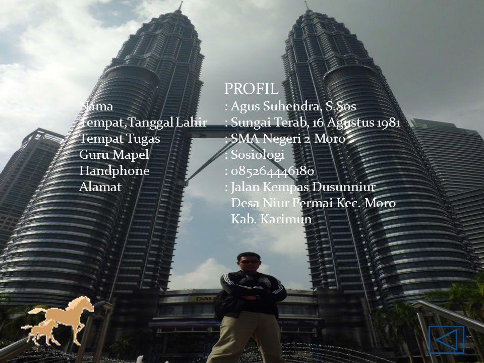 PROFIL Nama : Agus Suhendra, S.Sos