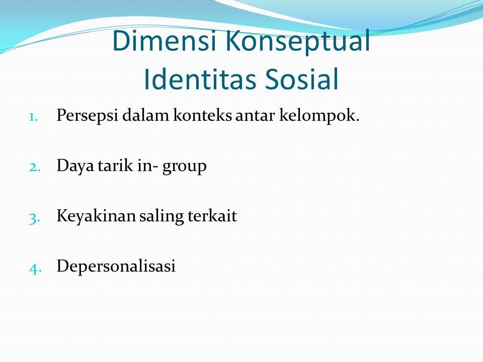 Dimensi Konseptual Identitas Sosial