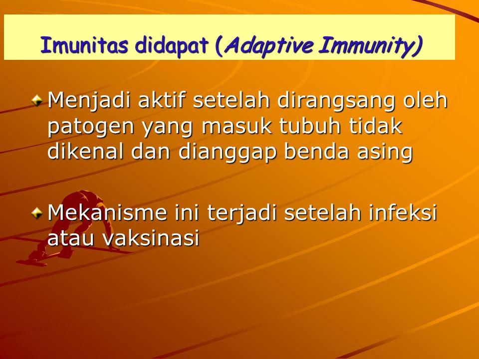 Imunitas didapat (Adaptive Immunity)