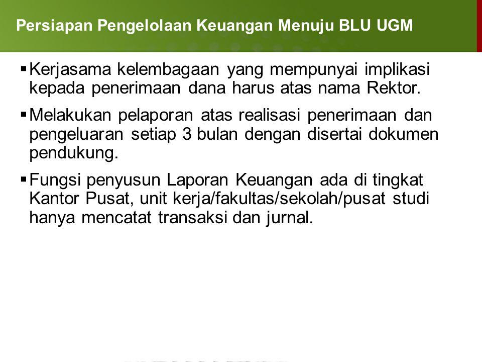 Persiapan Pengelolaan Keuangan Menuju BLU UGM