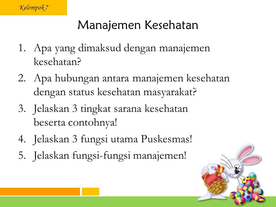 Manajemen Kesehatan Apa yang dimaksud dengan manajemen kesehatan
