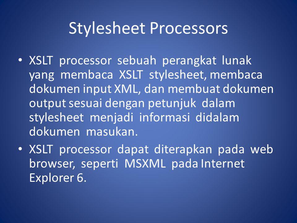 Stylesheet Processors