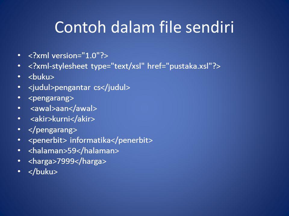 Contoh dalam file sendiri