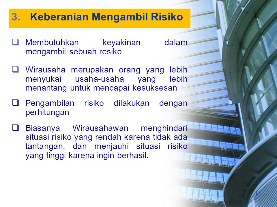 Keberanian Mengambil Risiko