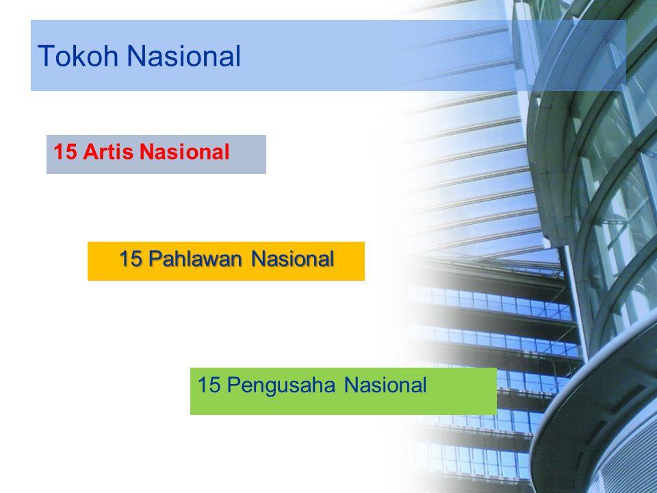 Tokoh Nasional 15 Artis Nasional 15 Pahlawan Nasional