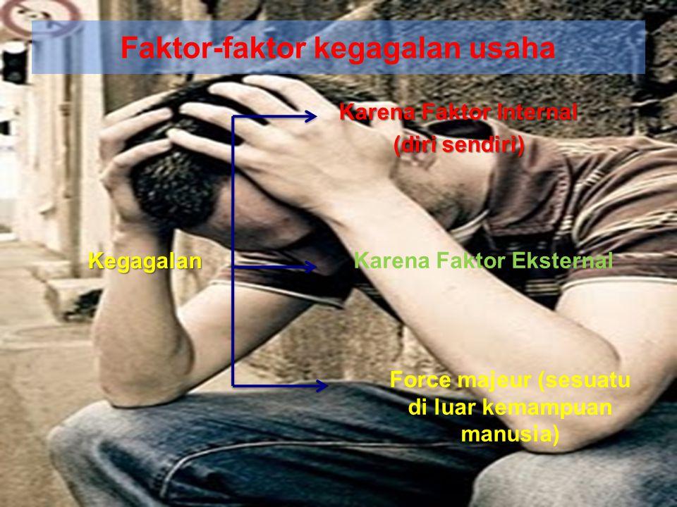 Faktor-faktor kegagalan usaha