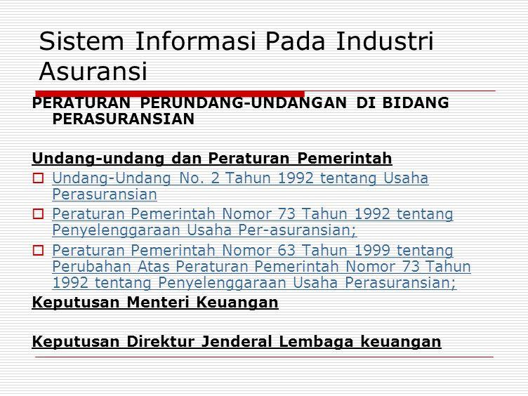 Sistem Informasi Pada Industri Asuransi
