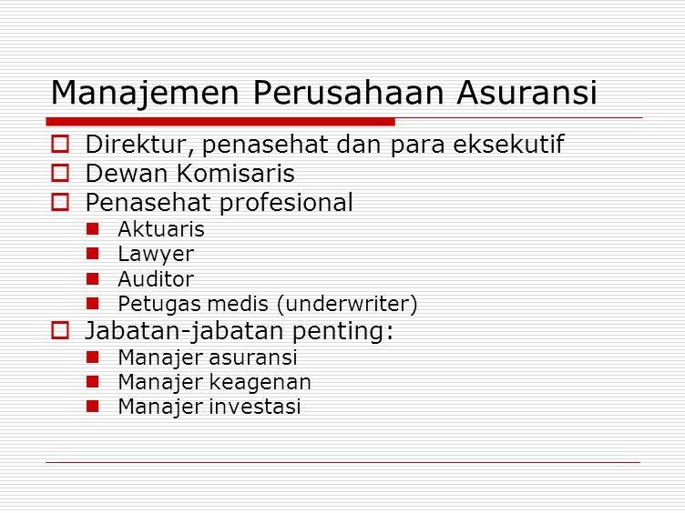 Manajemen Perusahaan Asuransi