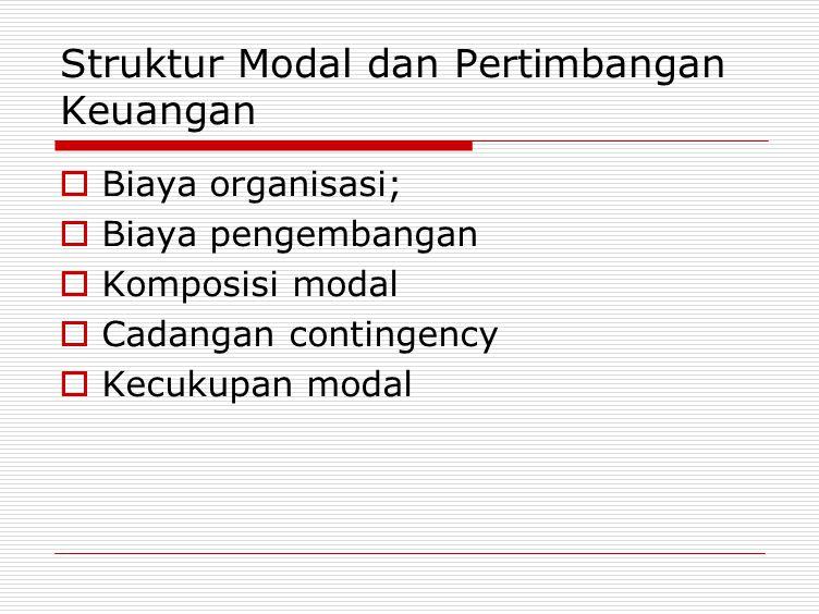 Struktur Modal dan Pertimbangan Keuangan