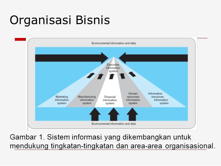 Organisasi Bisnis Gambar 1. Sistem informasi yang dikembangkan untuk
