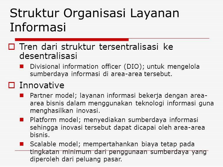 Struktur Organisasi Layanan Informasi