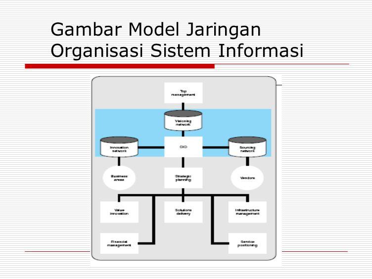 Gambar Model Jaringan Organisasi Sistem Informasi