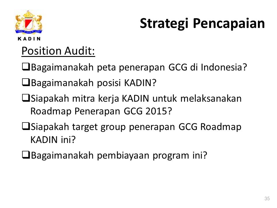 Strategi Pencapaian Position Audit: