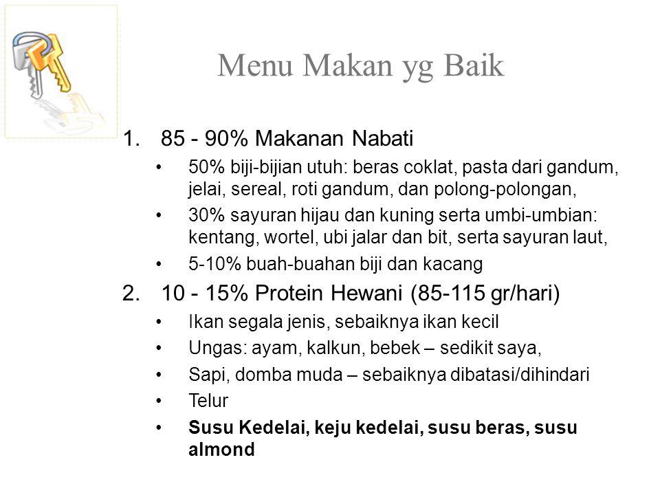 Menu Makan yg Baik 85 - 90% Makanan Nabati