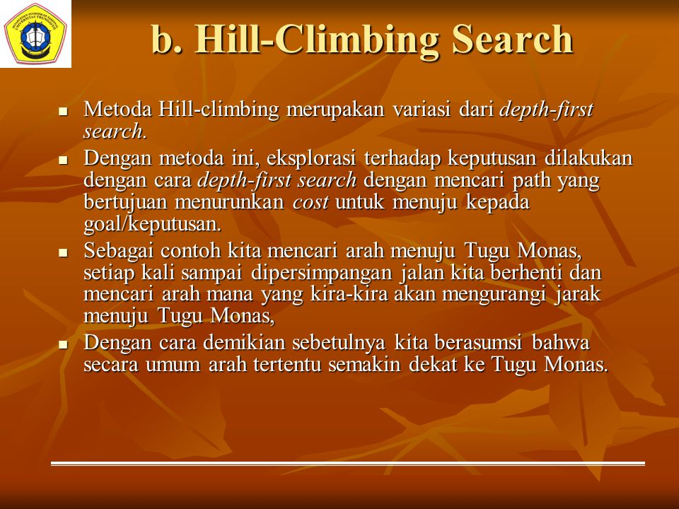b. Hill-Climbing Search