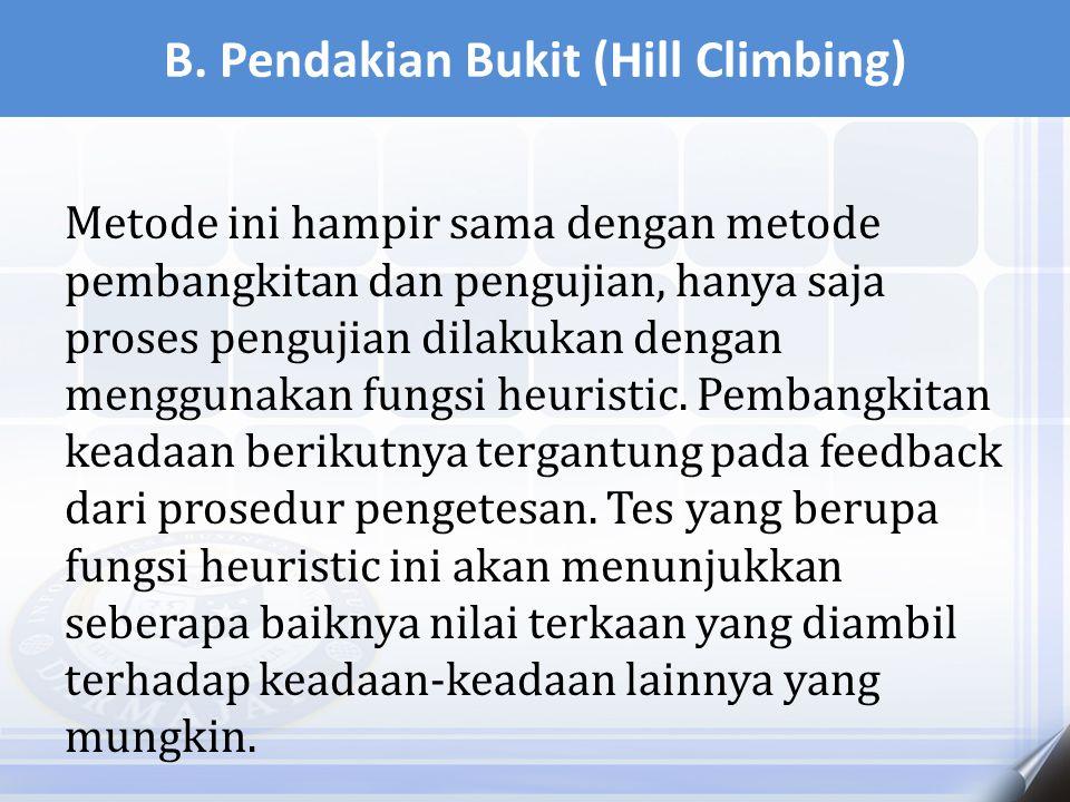 B. Pendakian Bukit (Hill Climbing)