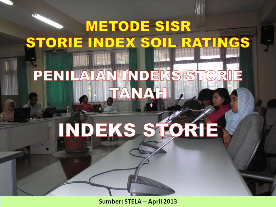 STORIE INDEX SOIL RATINGS PENILAIAN INDEKS STORIE