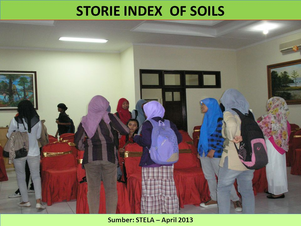 STORIE INDEX OF SOILS Sumber: STELA – April 2013