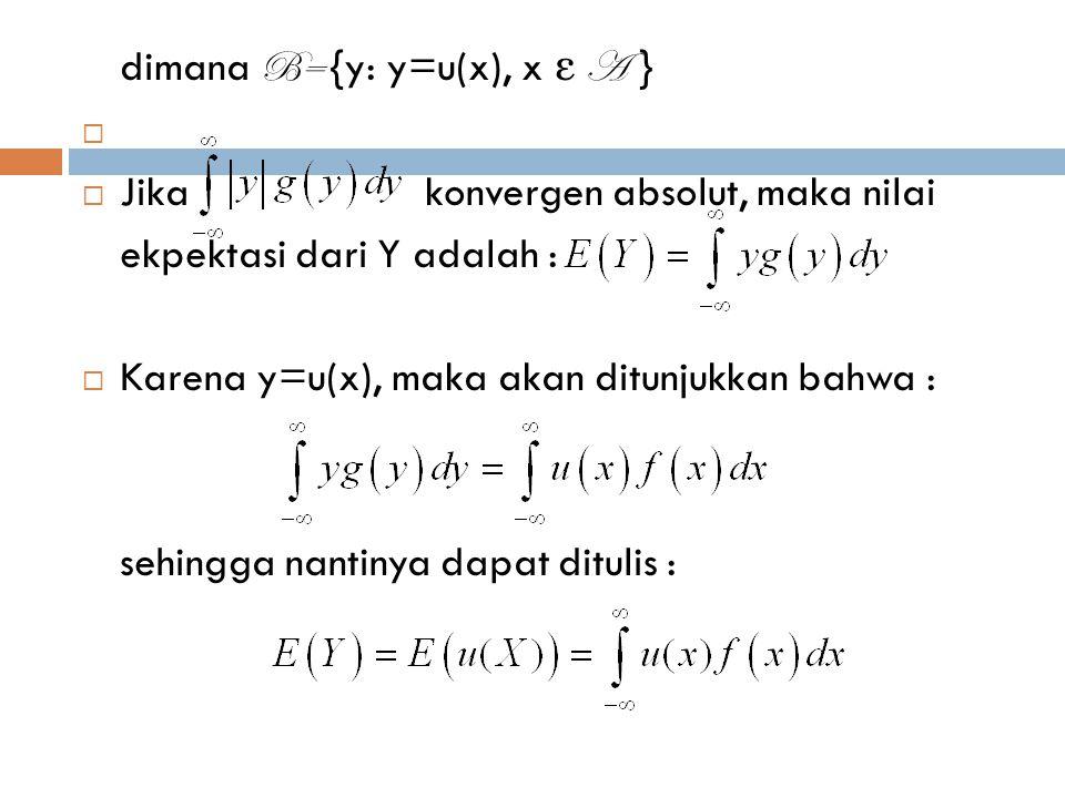 dimana B= {y: y=u(x), x ε A }