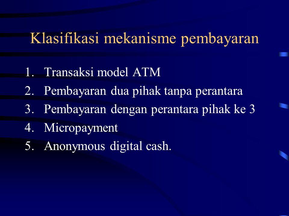 Klasifikasi mekanisme pembayaran