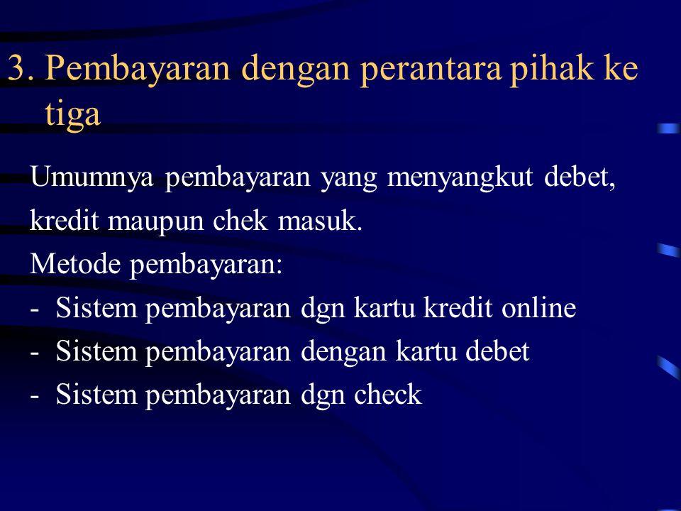 3. Pembayaran dengan perantara pihak ke tiga