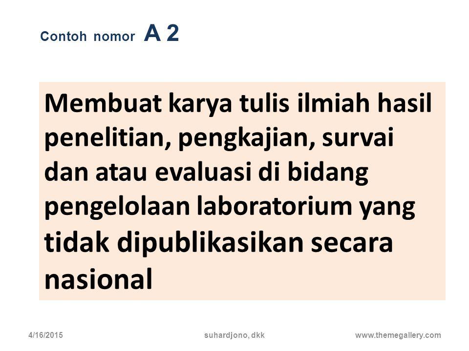 Contoh nomor A 2